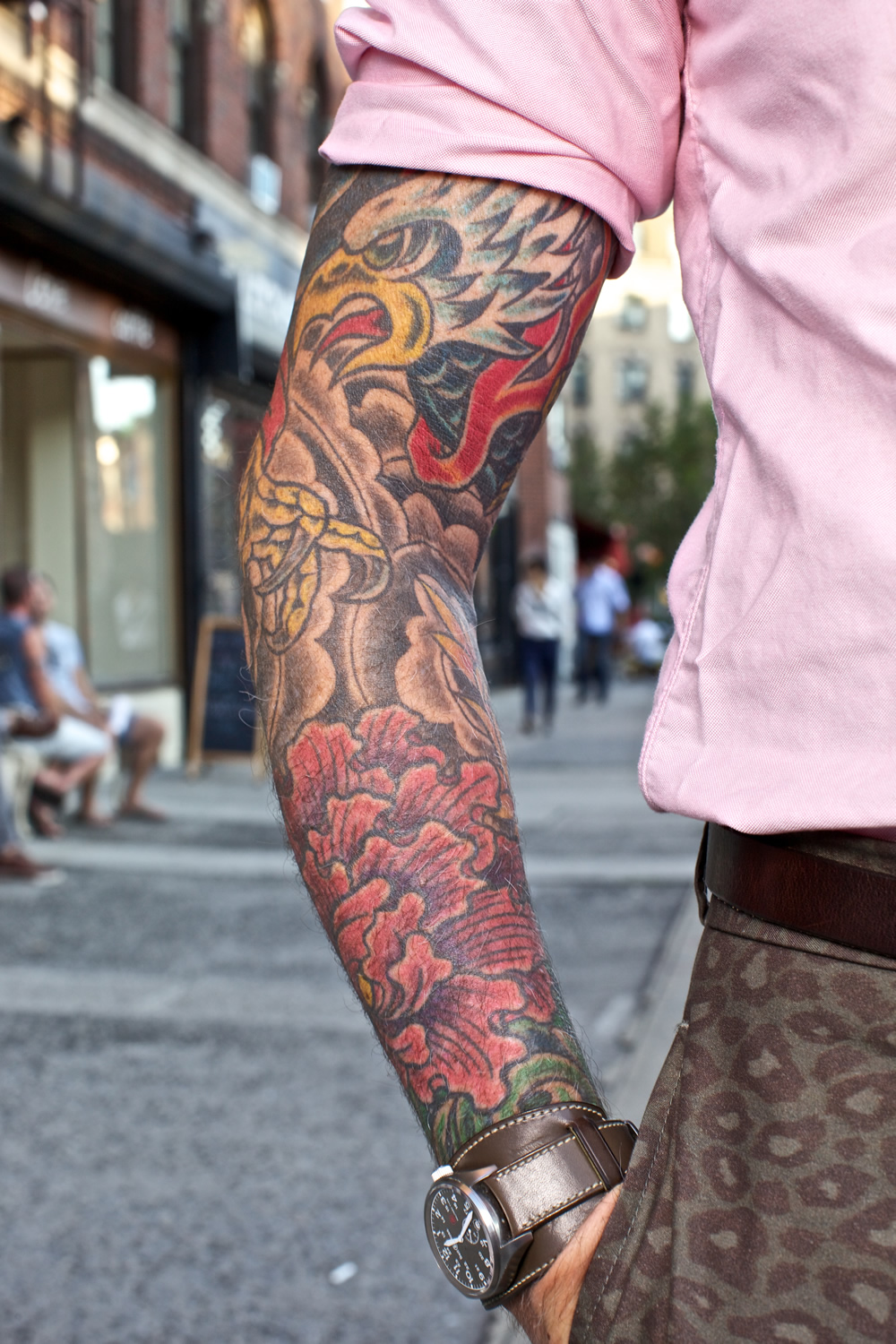 Nick wooster style icon for Camo sleeve tattoos